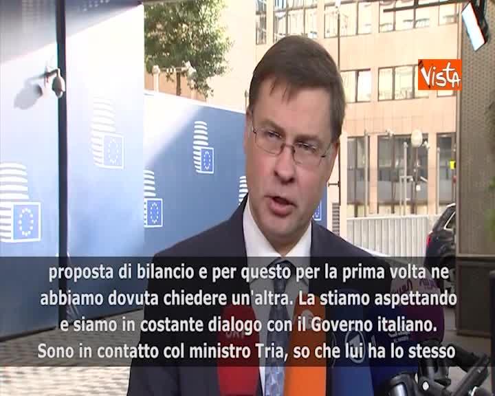 """Manovra, Dombrovskis: """"Italia sta pagando più interessi, impatto su economia reale"""""""