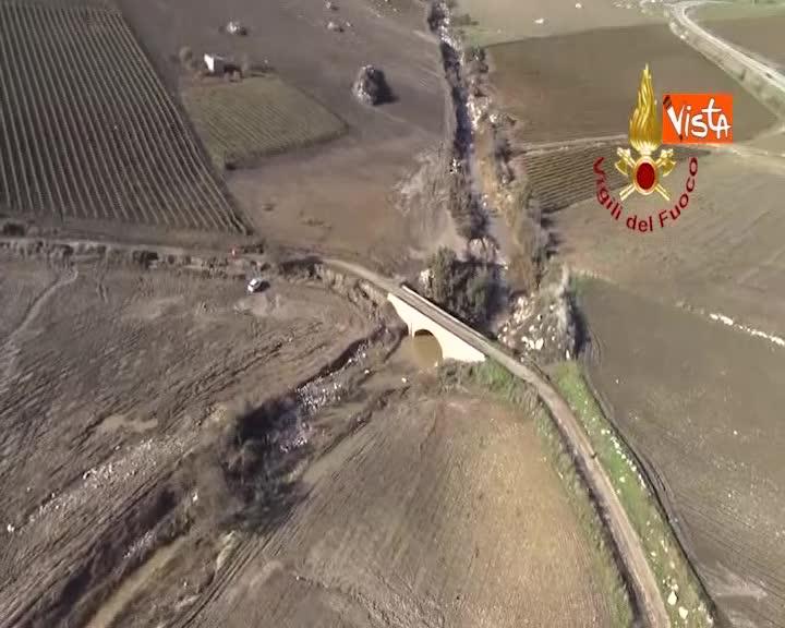 La Sicilia devastata dal maltempo, le immagini di Corleone dall'elicottero dei Vigili del Fuoco