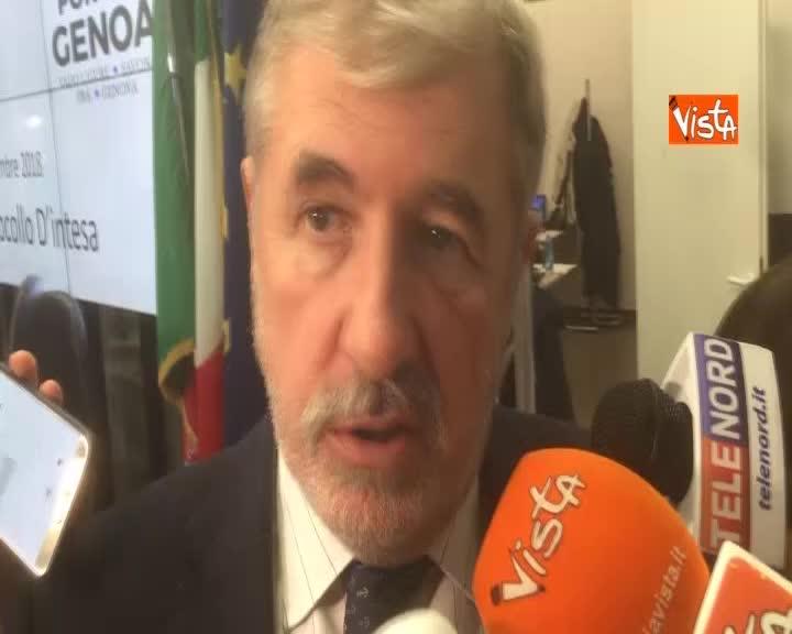 """Ponte Morandi, Bucci: """"Nuovo viadotto entro 2020, lavori da 12 a 15 mesi"""""""