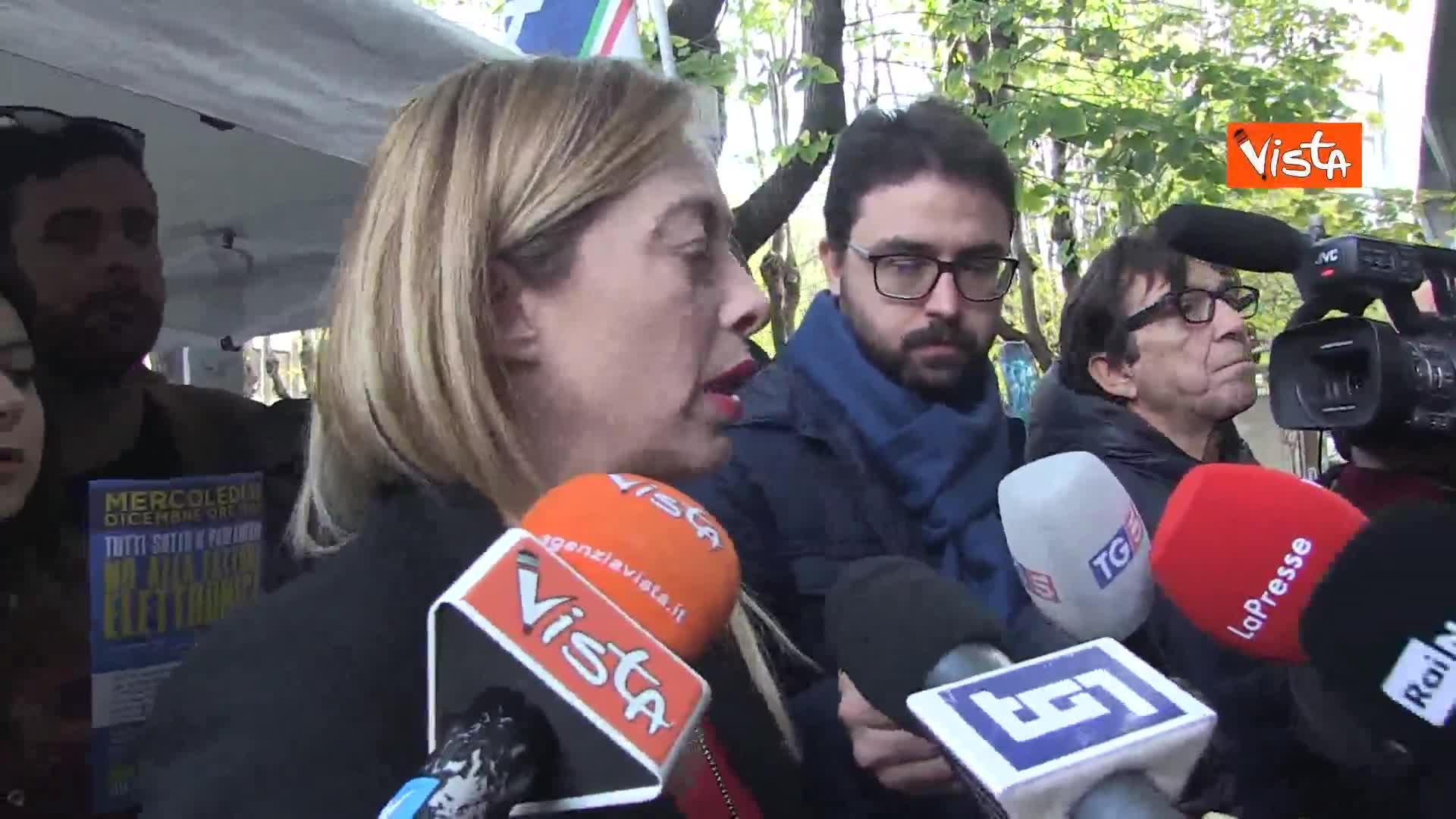 """Centrodestra, Meloni: """"Non capisco nervosismo Salvini, non facciamo riunioni clandestine"""""""