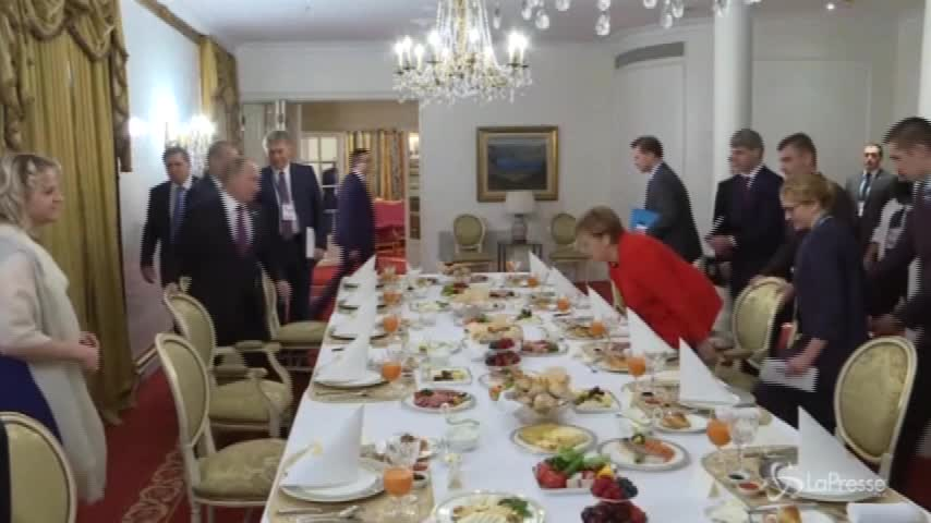 G20, colazione tra Merkel e Putin