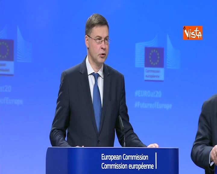 """Ue, Dombrovskis: """"Importante completare unione bancaria"""""""