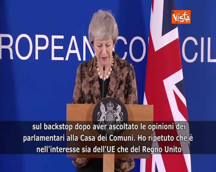 """Brexit, May: """"Chieste a Ue rassicurazioni su backstop"""""""