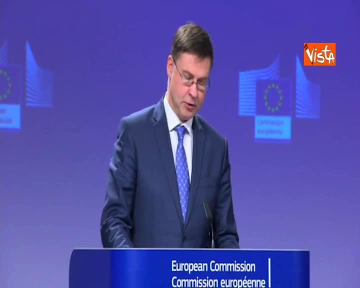 """Manovra, Dombrovskis: """"Soluzione non ideale ma plausibile"""""""