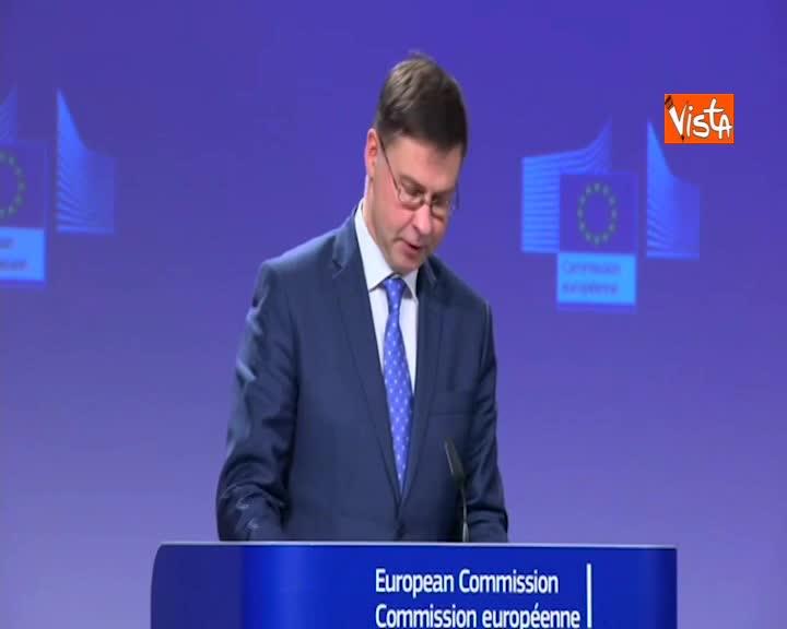 """Manovra, Dombrovskis: """"Evitata procedura deficit eccessivo"""""""