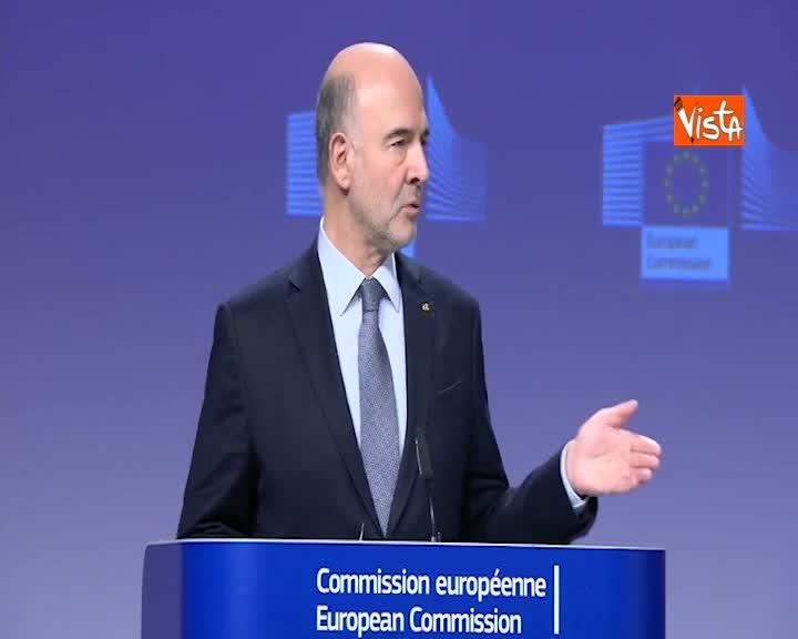 """Manovra, Moscovici: """"Seguiamo da vicino situazione Italia, dialogo approfondito"""""""