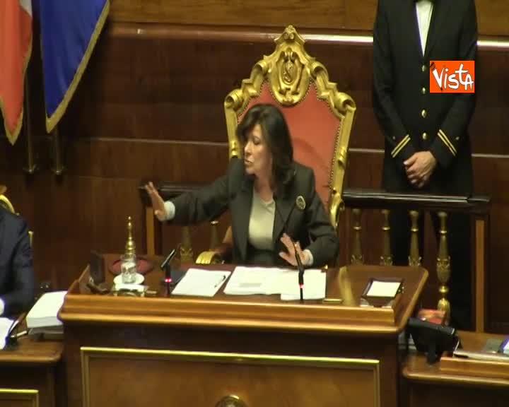 """Manovra, il richiamo della Casellati: """"Governo abbia comportamento rispettoso del Senato"""""""