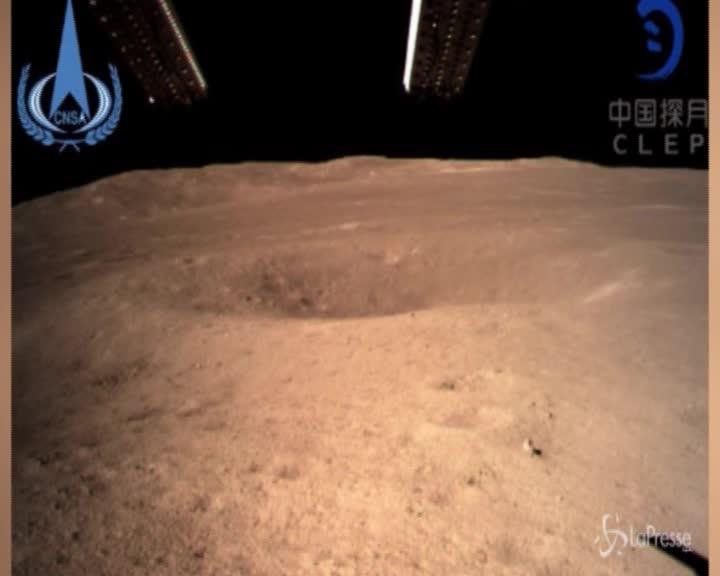 Cina, la sonda ChangE4 atterra sulla Luna: le prime immagini