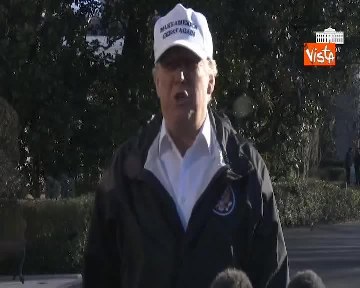 Trump in partenza per il confine con il Messico