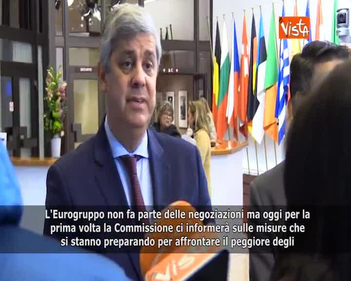 """Brexit, Centeno (Pres. Eurogruppo): """"Essere pronti a ogni scenario, anche 'no deal'"""""""