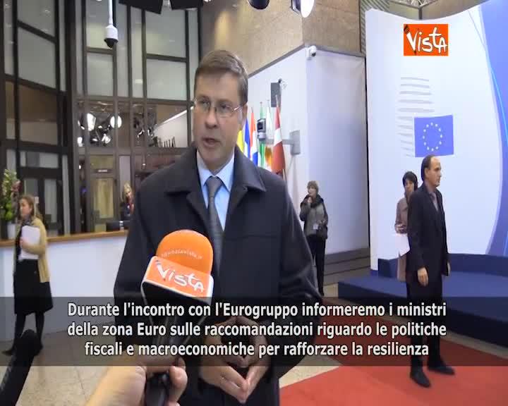 """Eurogruppo, Dombrovkis: """"Presenteremo ai ministri politiche per rafforzare eurozona"""""""