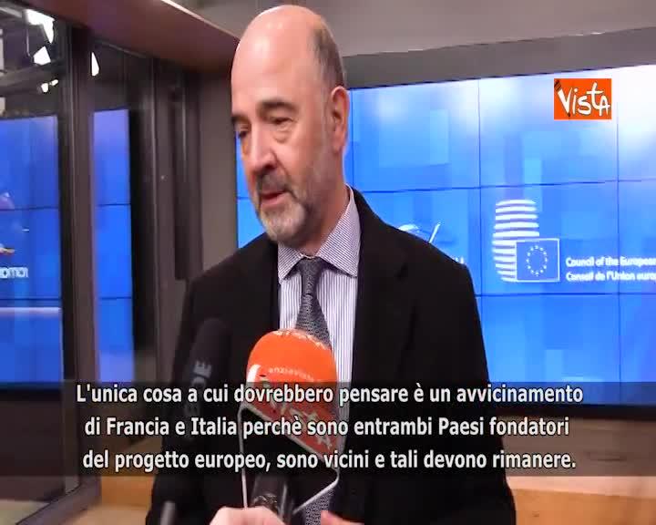 """Francia, Moscovici: """"Da Di Maio affermazioni ostili e assurde"""""""