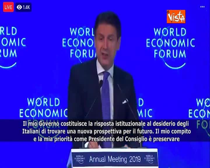 """Governo, Conte: """"È risposta a desiderio futuro Italiani"""" SOTTOTITOLI"""
