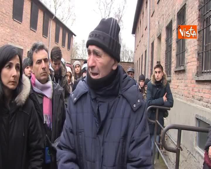 """Modiano a Birknenau: """"Esci vivo da questa fabbrica di morte e ti chiedi perché io?"""""""