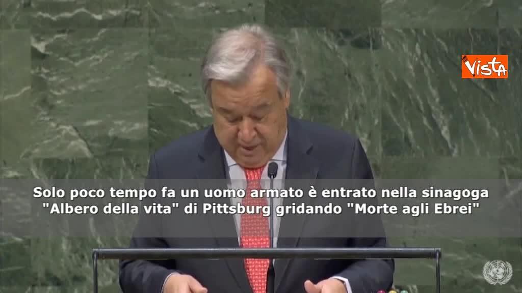 """Giornata memoria, Guterres (Onu): """"Dobbiamo sconfiggere l'odio"""""""