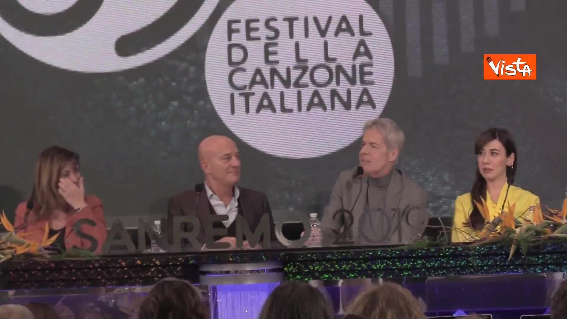 """Sanremo, Baglioni alla direttrice di Rai 1: """"Non capisco se sei li per guardare o per controllarci"""""""