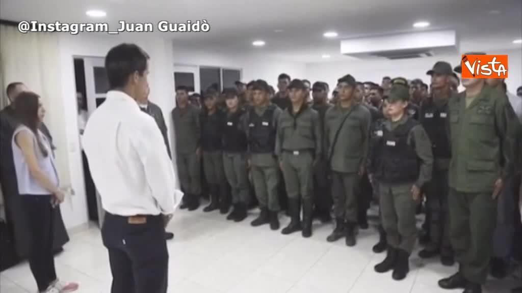 "Venezuela, Guaidò incontra i militari a Cucuta: ""Insieme libereremo il Paese"""