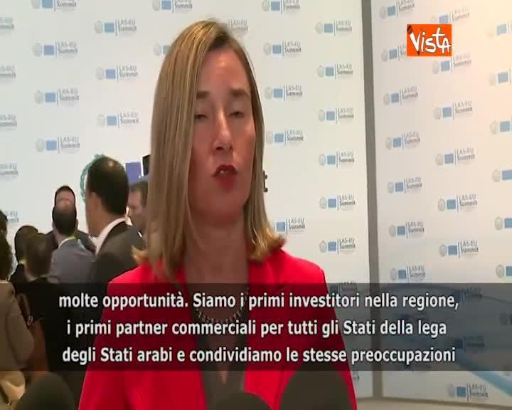 """Summit Ue-Lega Stati Arabi, Mogherini: """"Condividiamo molte sfide e opportunità"""""""