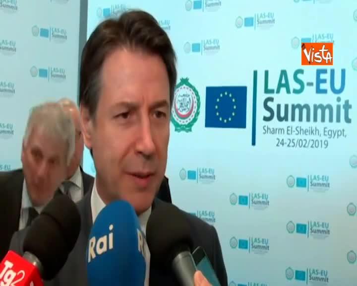 """Summit Ue-Lega Araba, Conte: """"Sia appuntamento fisso"""""""