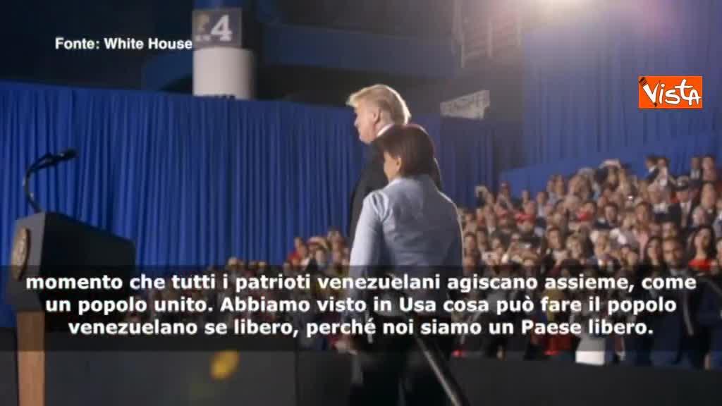 """Venezuela, Trump: """"Socialismo sta morendo, tornerà la libertà e la democrazia"""""""