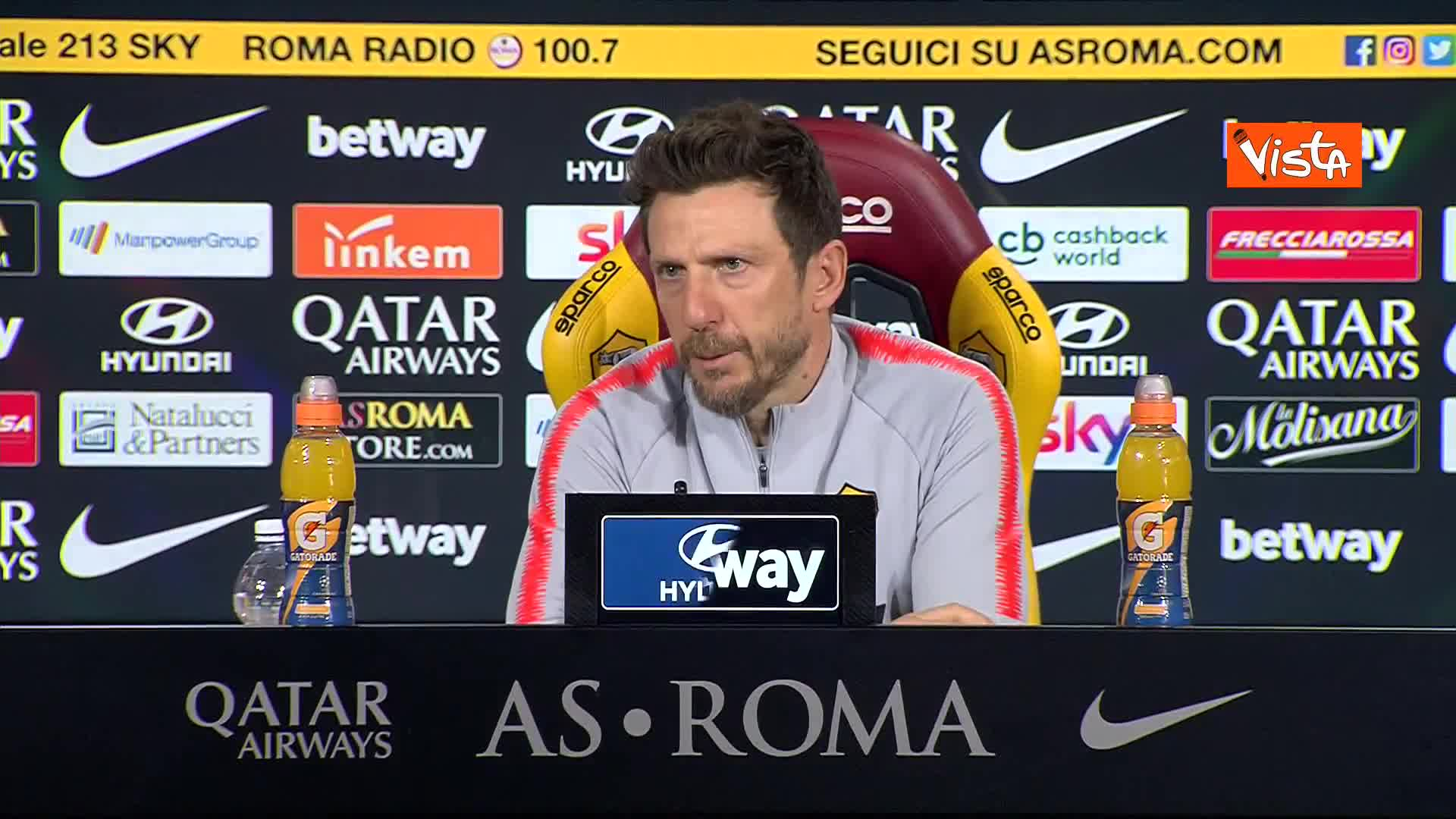 """Derby Lazio-Roma, Di Francesco: """"Sarà una partita delicata per entrambe le squadre"""""""