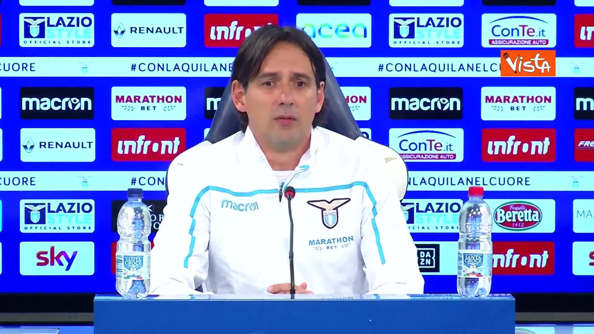 """Derby Lazio-Roma, Inzaghi: """"Non temo la Roma, servirà grande cuore"""""""