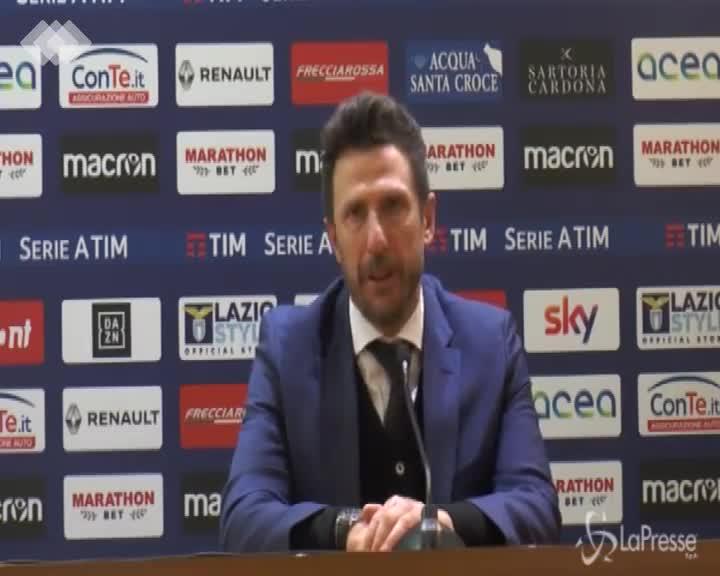 """Di Francesco: """"Persi tutti i duelli individuali, la Lazio ha fatto meglio di noi"""""""