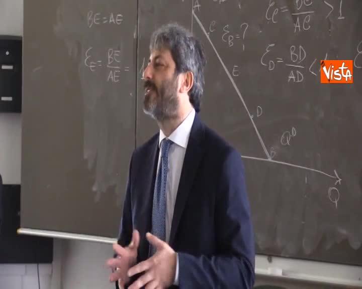 """Fico agli studenti di Fisciano: """"Feci i test qui, non ammesso per un punto ho studiato a Trieste"""""""
