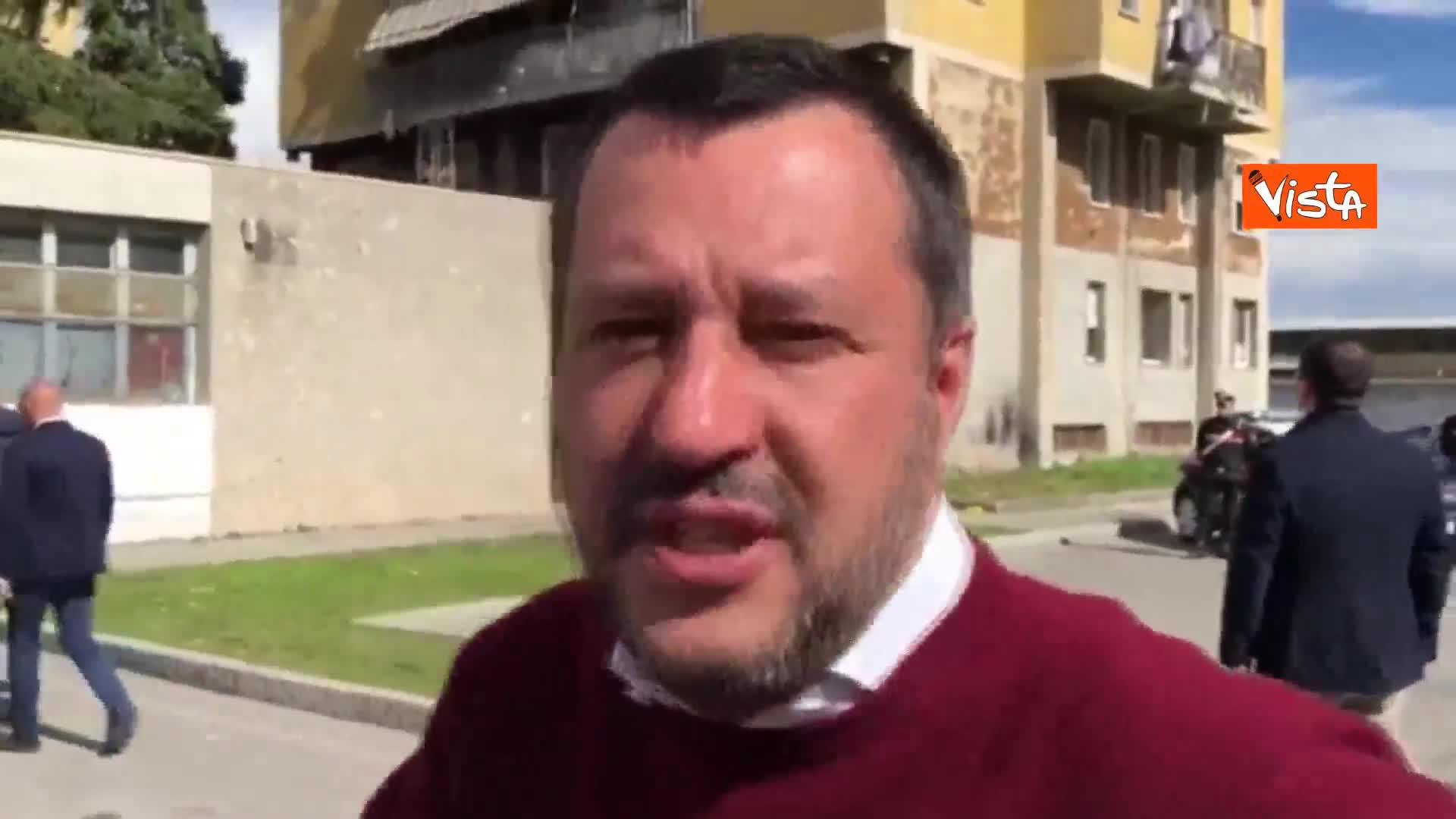 """Salvini gira un video a Zingonia: """"Dalle parole ai fatti"""""""