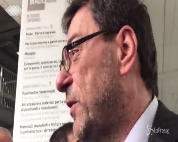 """Giorgetti: """"Io uomo di Napolitano? Mi scappa da ridere"""""""