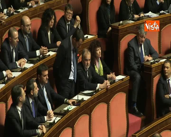 """Diciotti, Salvini si emoziona durante intervento: """"Succede quando si mette in dubbio mio operato"""""""