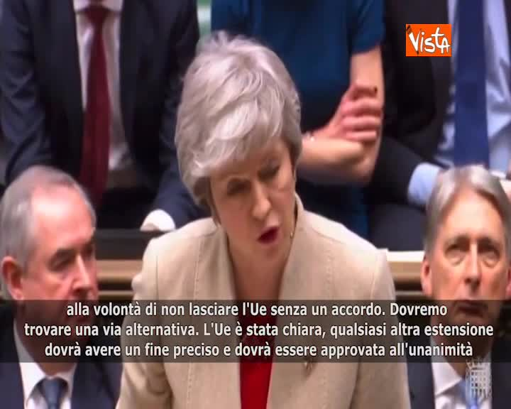 """Brexit, May: """"Gravi implicazioni del voto della Camera"""""""