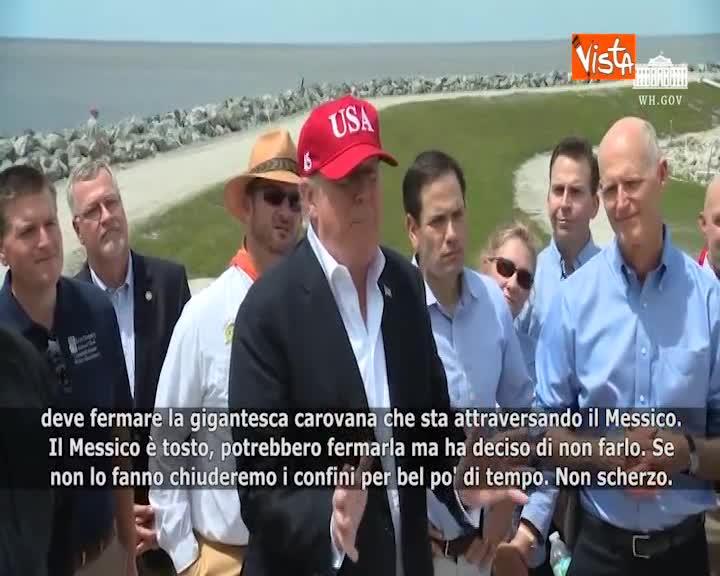 """Migranti, Trump: """"Messico fermi la carovana o chiudiamo i confini"""""""