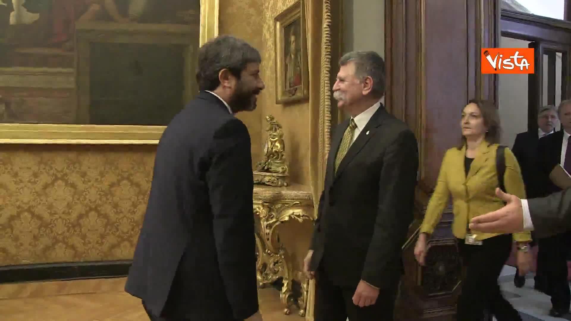 Fico incontra il presidente Assemblea Nazionale ungherese, immagini