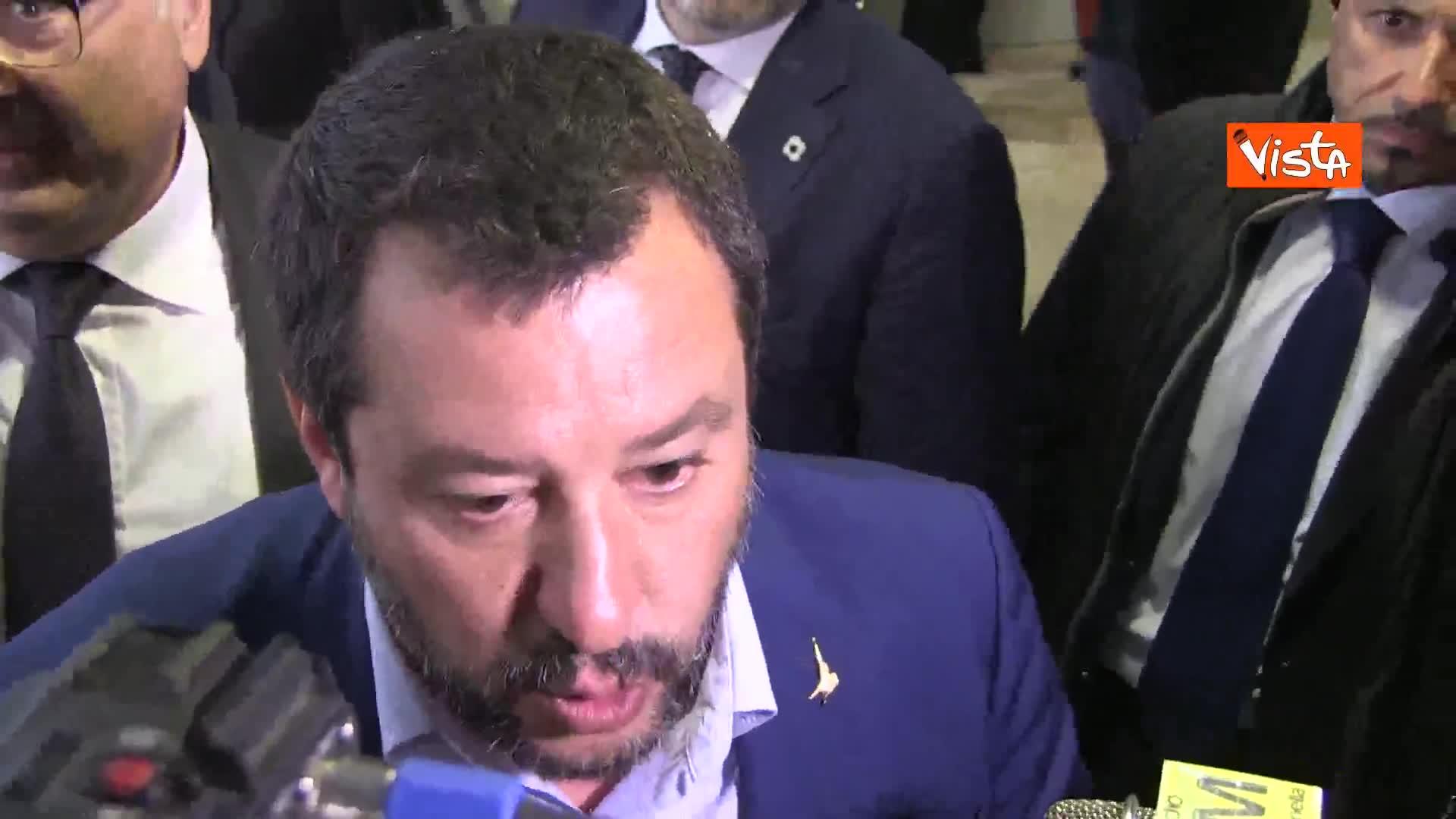 """Salvini a Lucano: """"Non ho paura dei processi"""""""