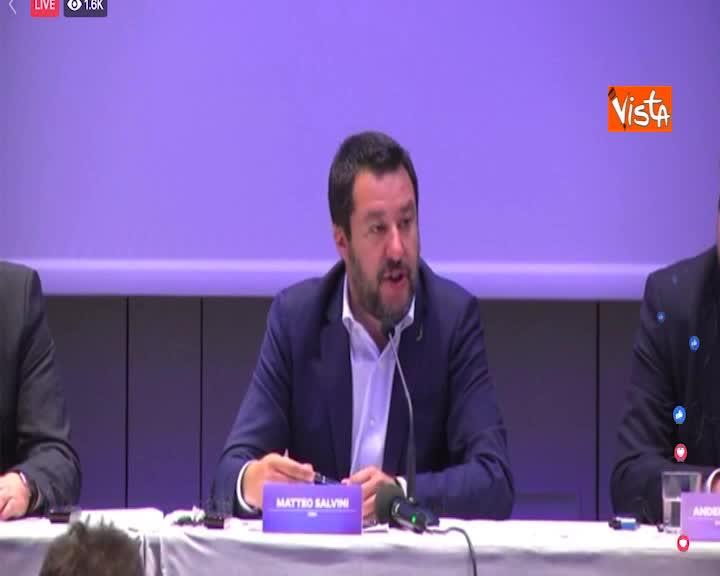 """Europee, Salvini: """"Alleanza guarda al futuro, insicurezza con accordo Ppe-Pse"""""""