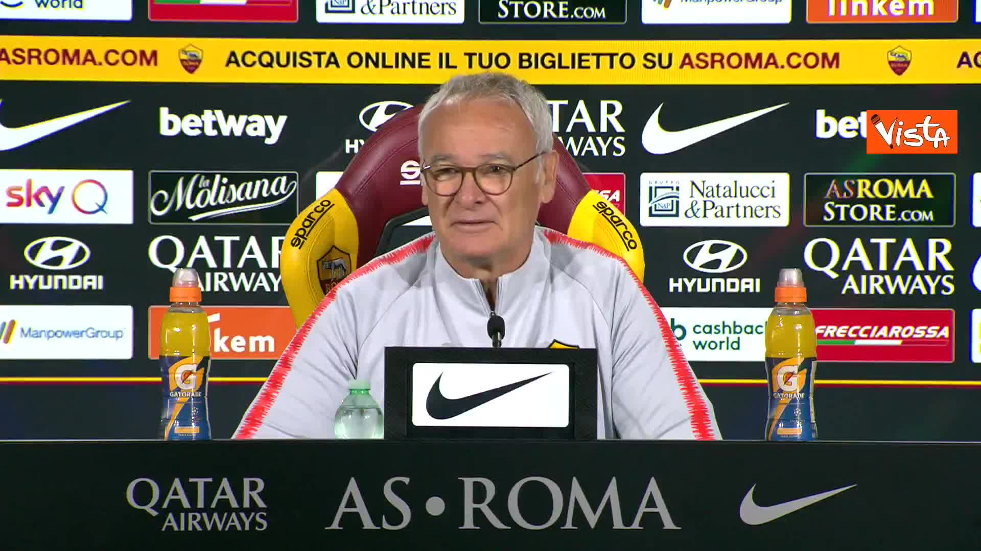 """Serie A, Ranieri (Roma) """"Futuro? Non mi propongo, da tifoso romanista ho accettato a scatola chiusa"""""""