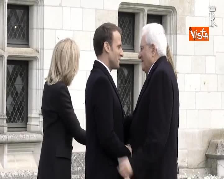 Francia-Italia, omaggio di Mattarella e Macron alla tomba di Leonardo