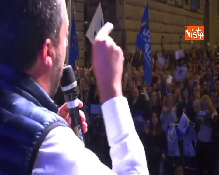 """Europee, Salvini: """"Se Lega primo partito confini blindati in Italia e in Europa"""""""