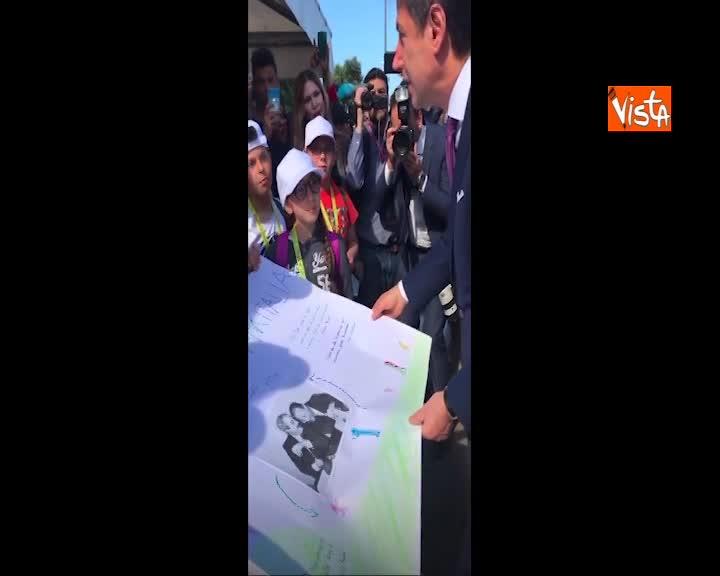Conte incontra i ragazzi alla commemorazione della strage di Capaci