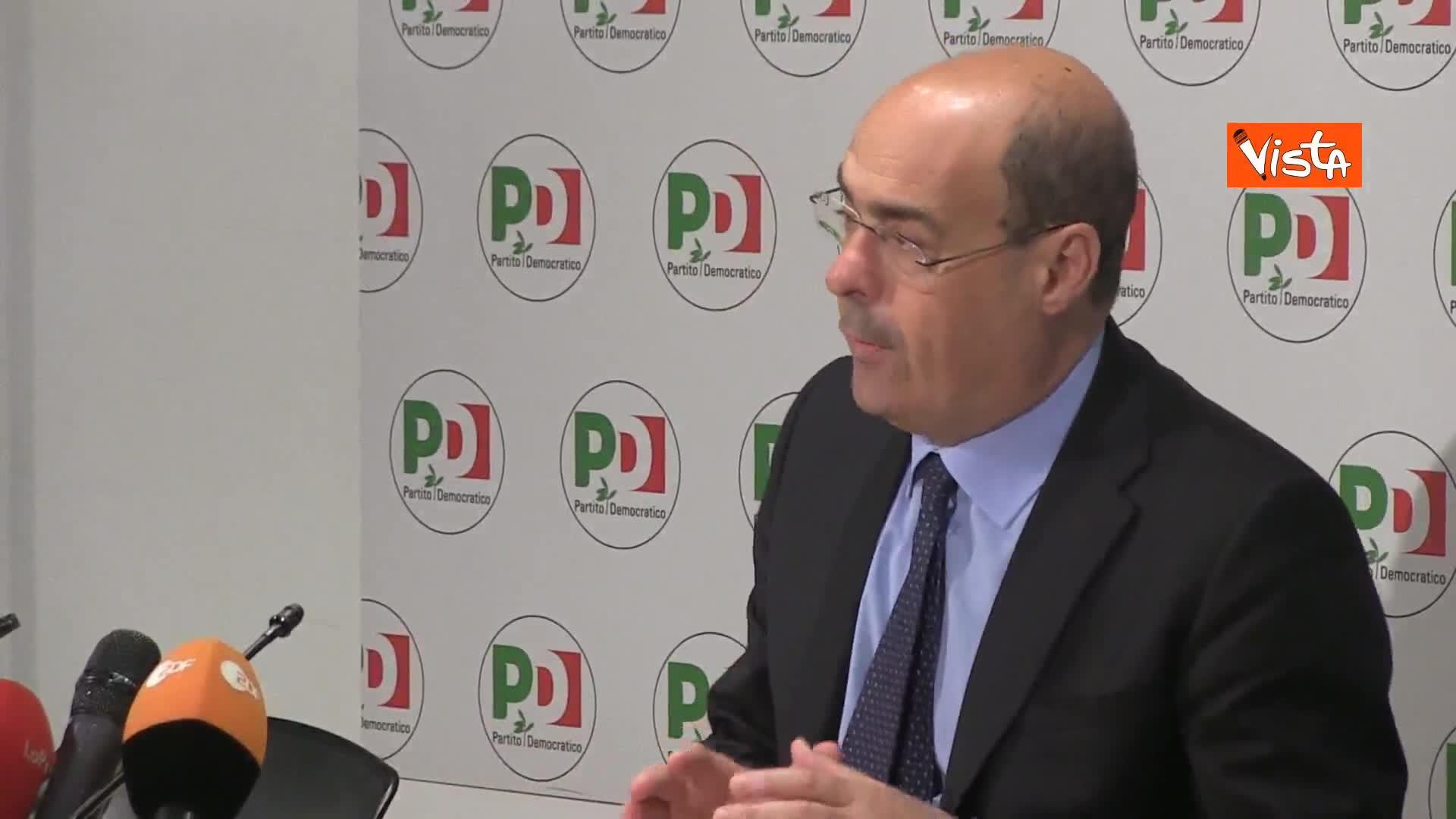 """Zingaretti: """"Risultato europee non e' punto di arrivo, ma base di partenza"""""""