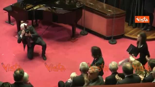 Senato e Cultura, l'applauso dell'aula del Senato per il maestro Franco Zeffirelli