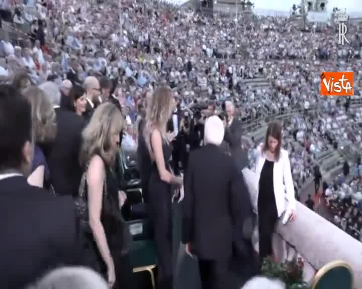Mattarella all'Arena di Verona per 'La Traviata' di Verdi con allestimento Zeffirelli