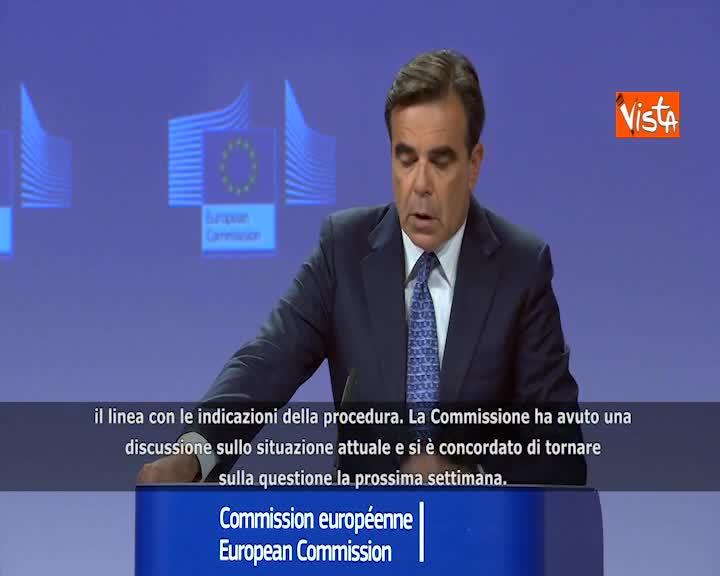"""Conti pubblici Italia, la Commissione: """"Continuano lavori preparatori a procedura"""""""