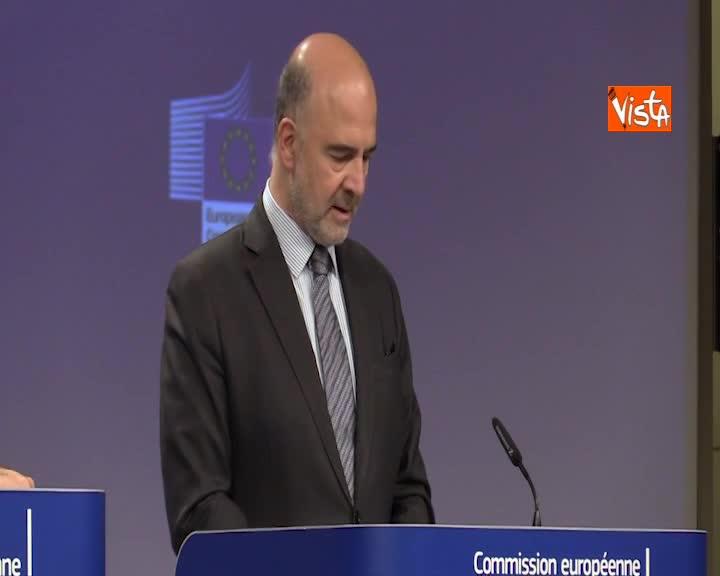 """Moscovici all'Italia: """"Procedura d'infrazione non più necessaria"""""""